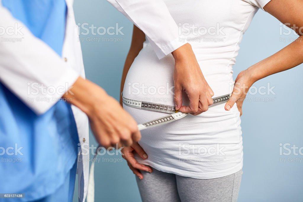 Abdomen size stock photo