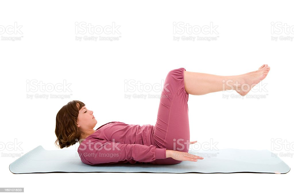 Abdominal exercises royalty-free stock photo