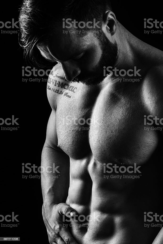 Abdominal Muscle Detail stock photo