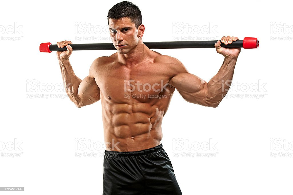 Abdominal Muscle Workout royalty-free stock photo