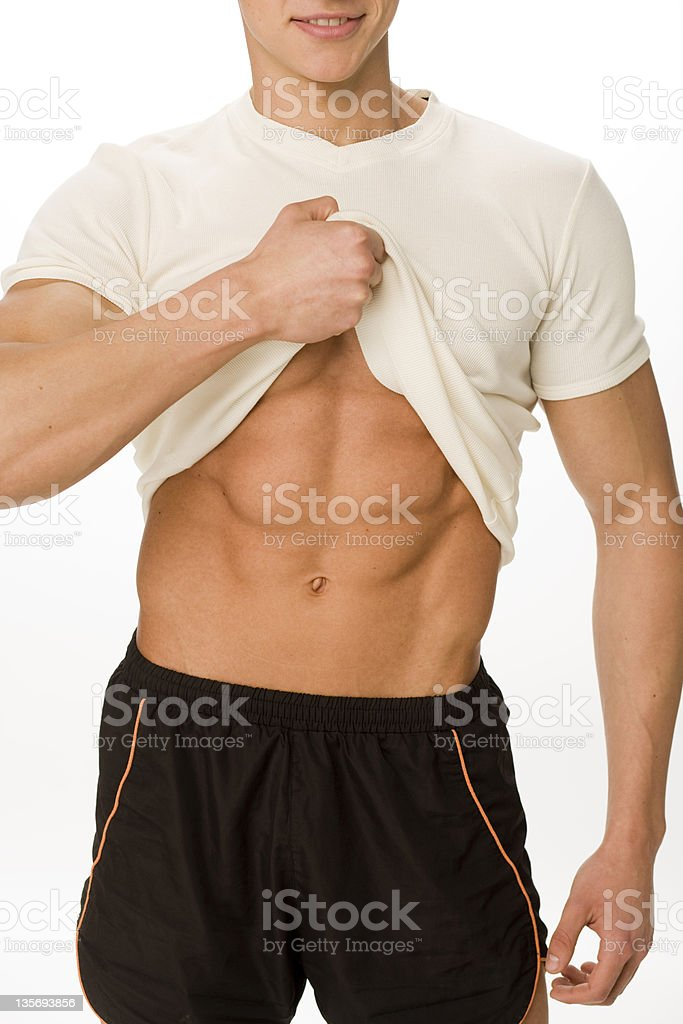 Abdominal Muscles royalty-free stock photo