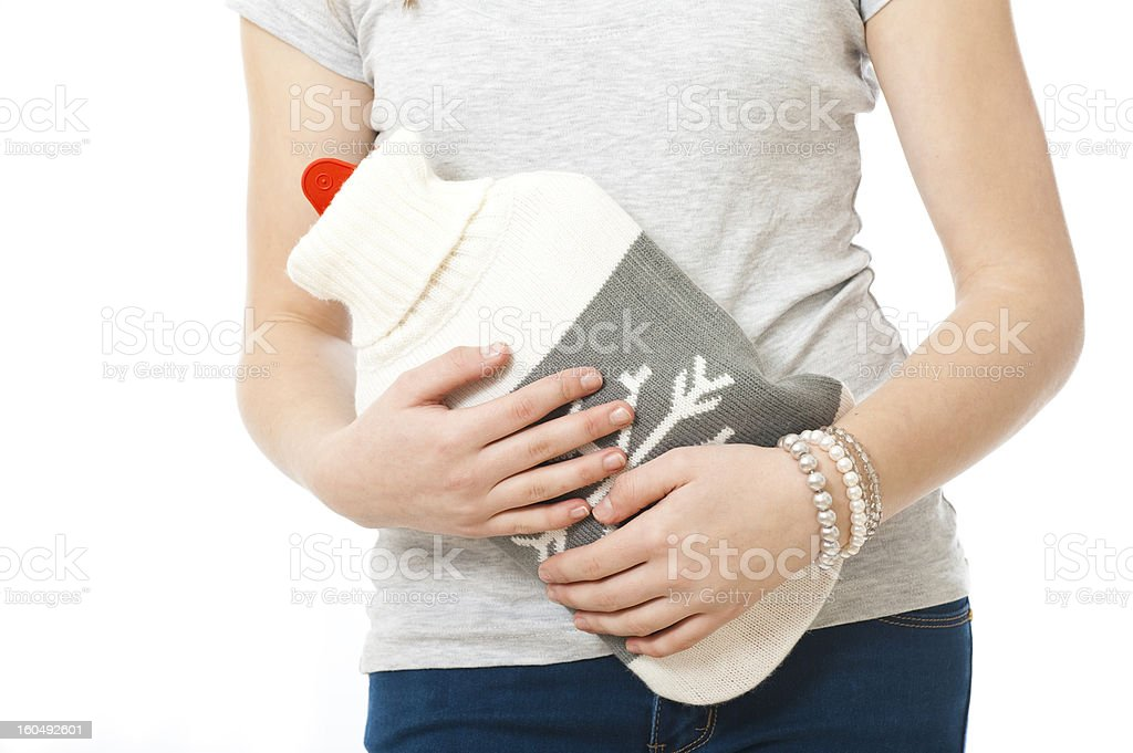 Abdominal pain stock photo