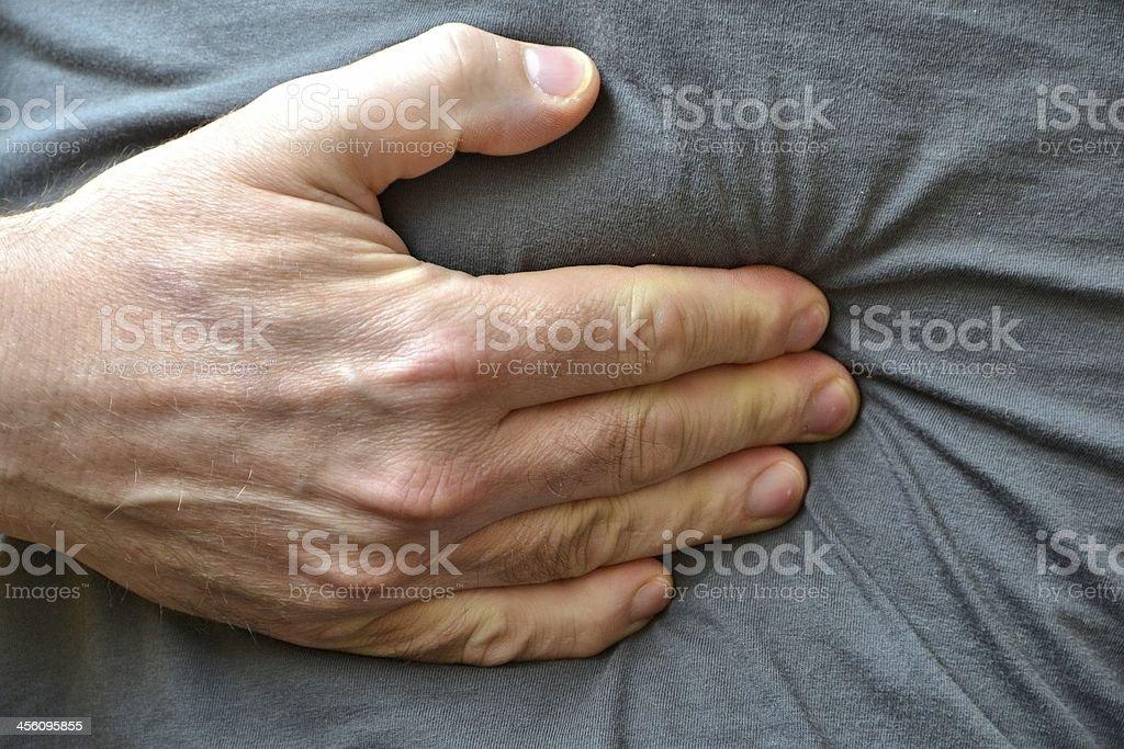abdominal pain stock photo