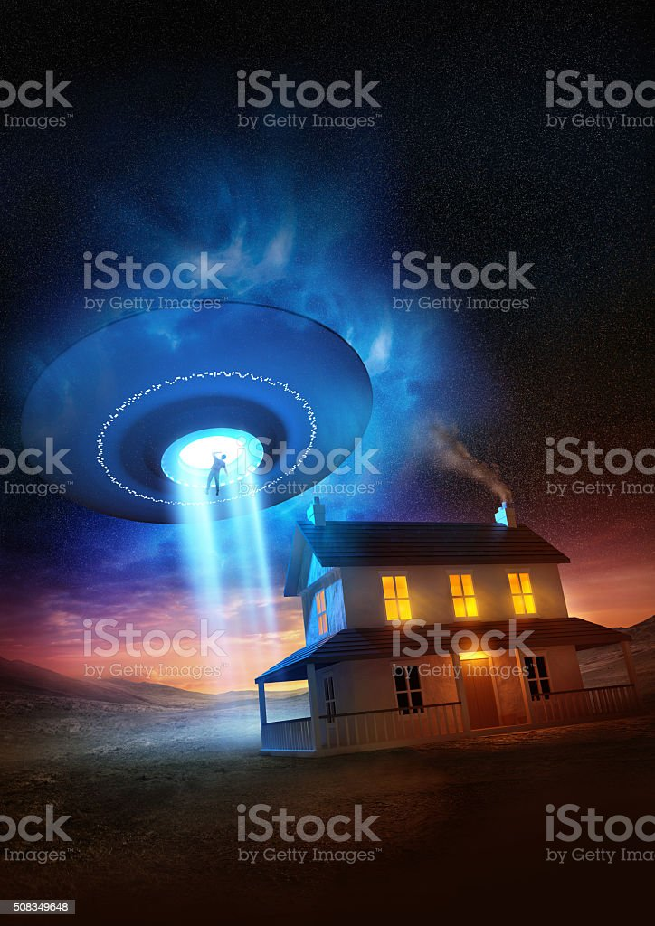 Abducted stock photo