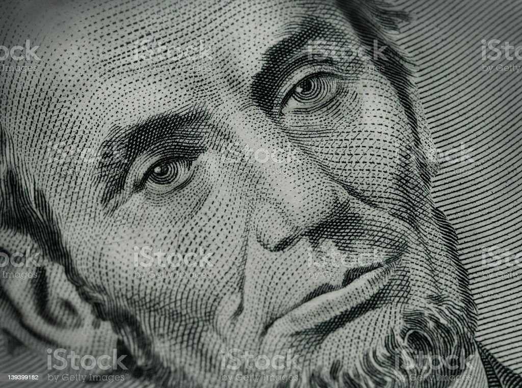 Abe - Five Dollar Bill stock photo
