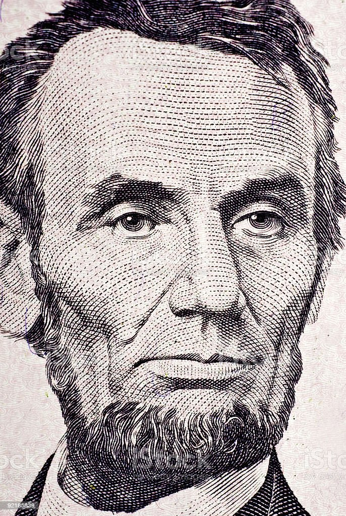 Abe Lincoln stock photo