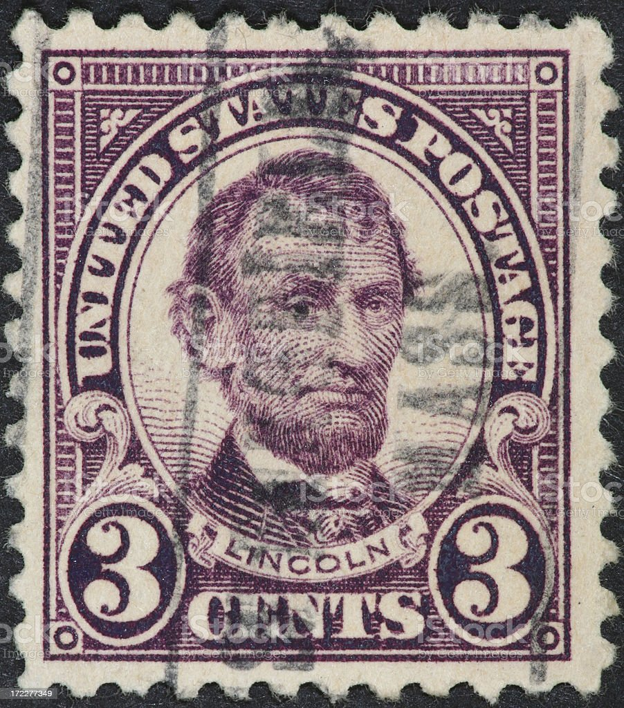Abe Lincoln stamp 1922 stock photo