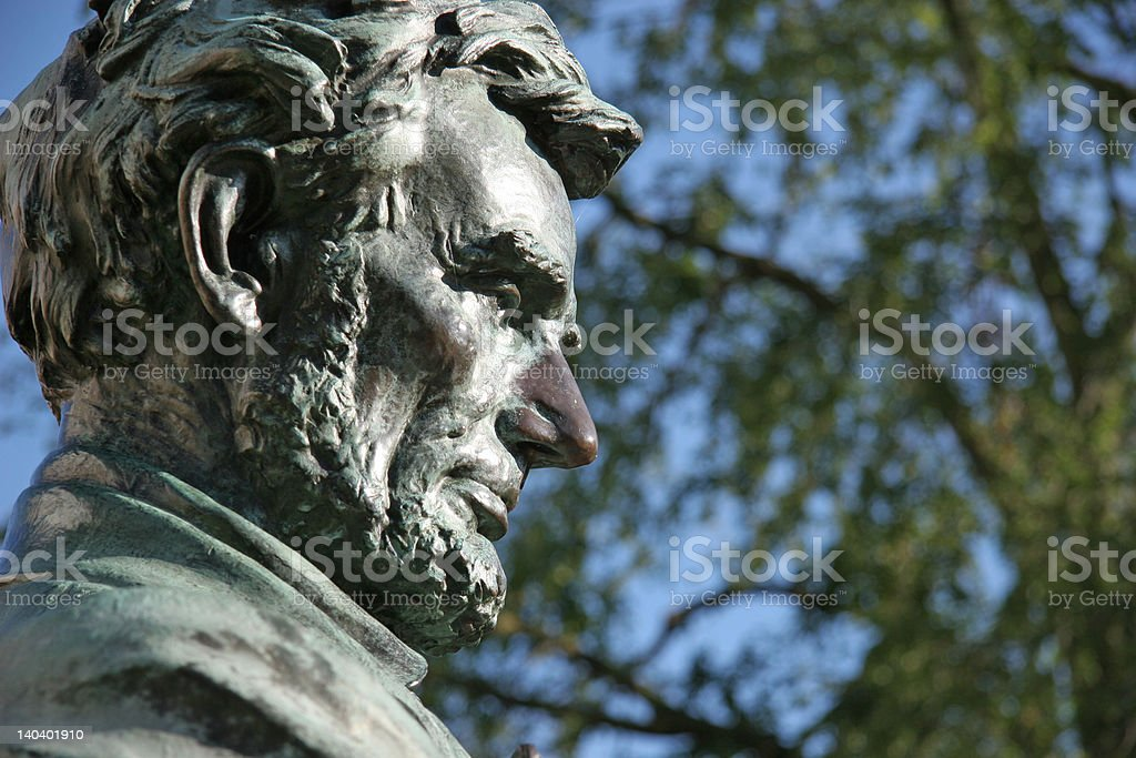 Abe Lincoln Statue royalty-free stock photo