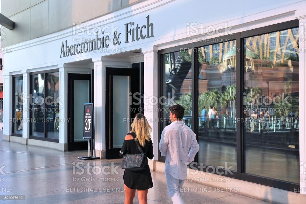 Abercrombie and Fitch stock photo