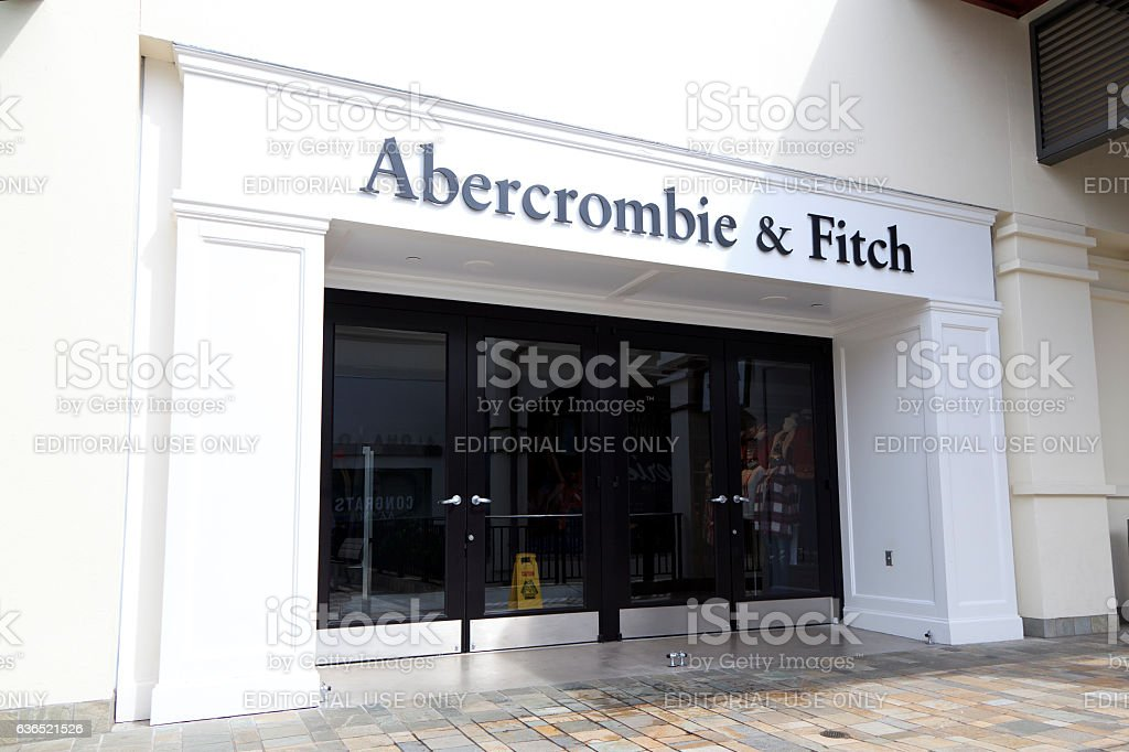 Abercrombie & Fitch stock photo