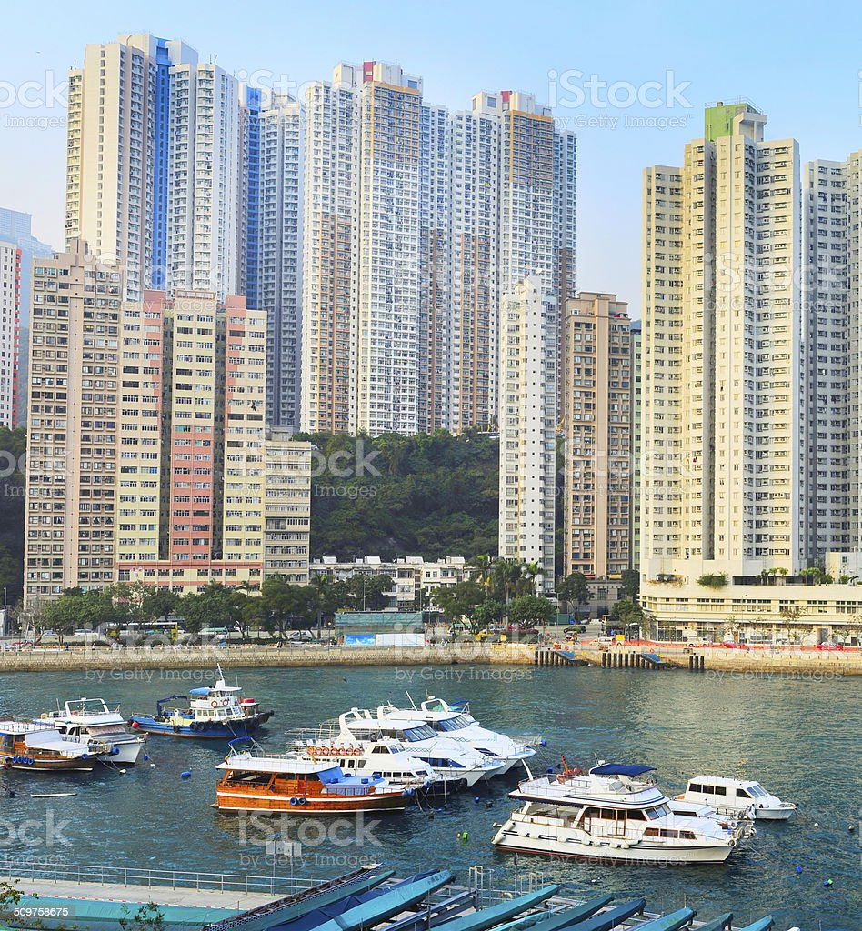 Aberdeen Bay, HK stock photo