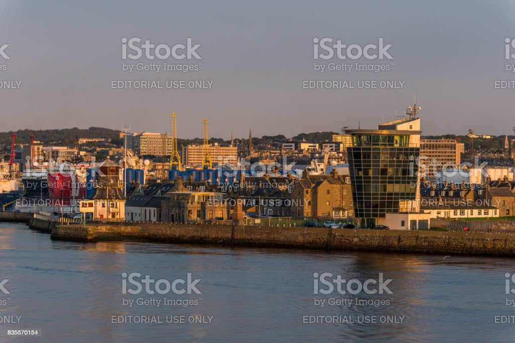 Aberdeen City and Tower stock photo