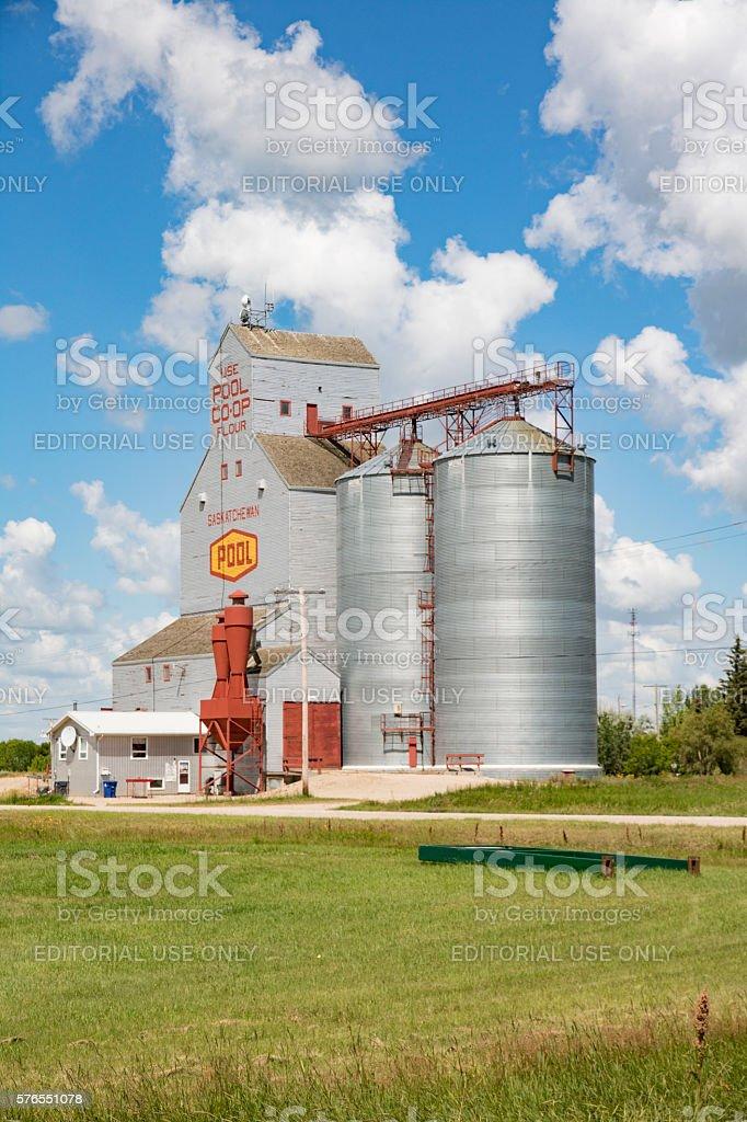 Aberdeen Grain Elevator With Saskatchewan Pool Logo stock photo