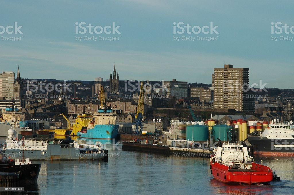 Aberdeen harbour royalty-free stock photo