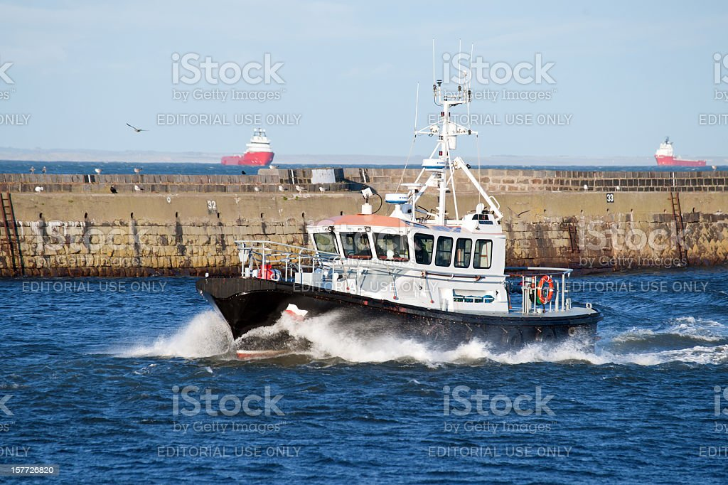 Aberdeen Pilot Boat stock photo