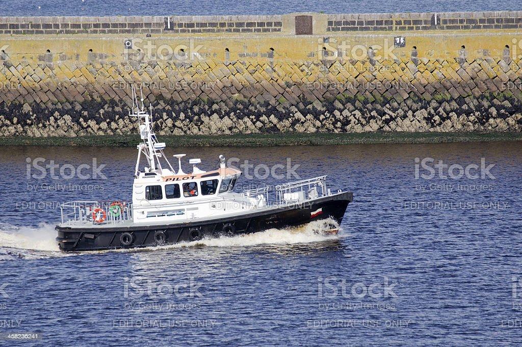 Aberdeen Pilot Boat royalty-free stock photo