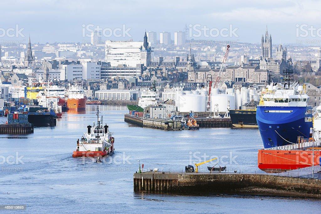 Aberdeen Scotland stock photo