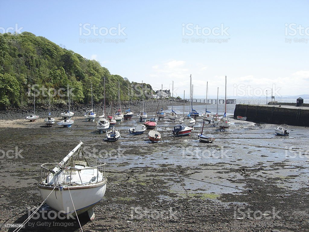 Aberdour Harbour royalty-free stock photo