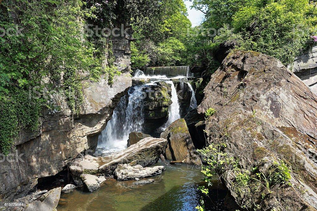 Aberdulais Falls - Brecon Beacons stock photo