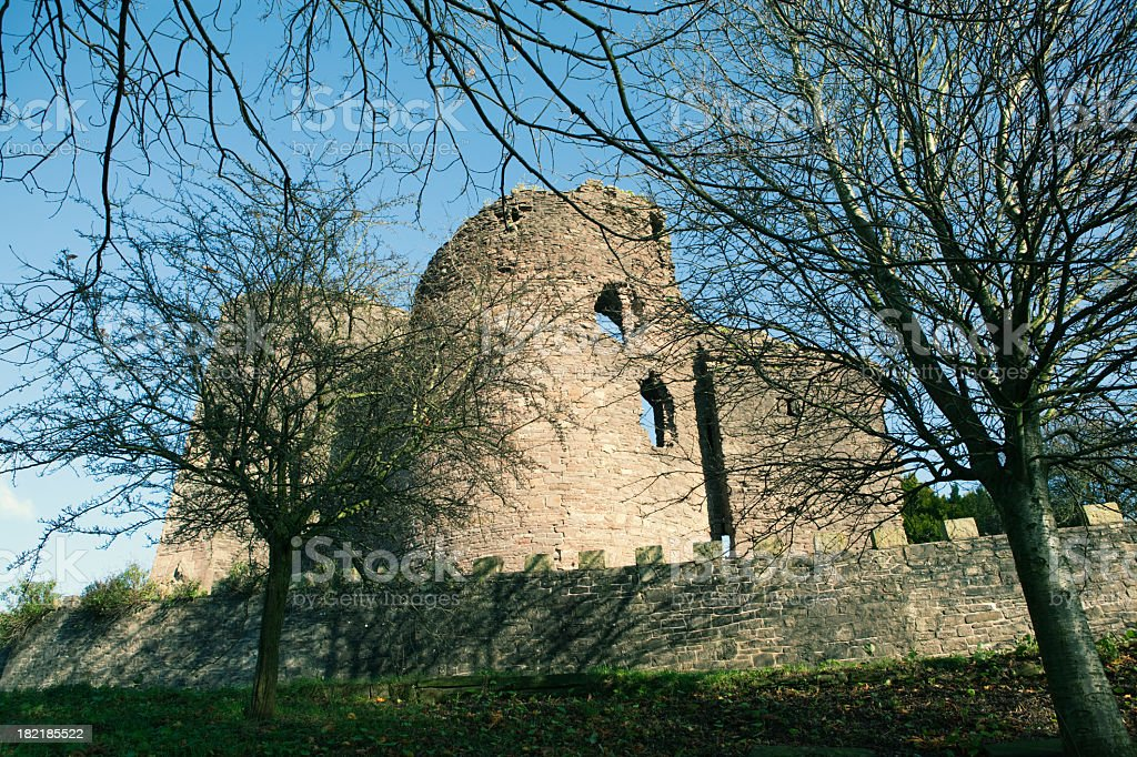 Abergavenny Castle stock photo