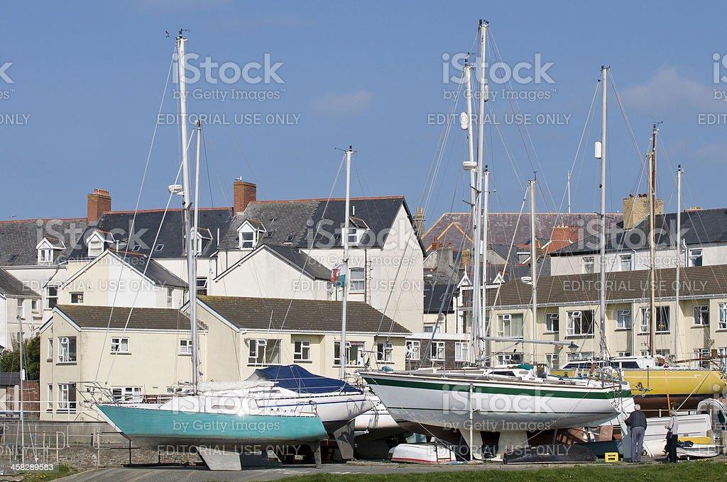 Aberystwyth harbour royalty-free stock photo