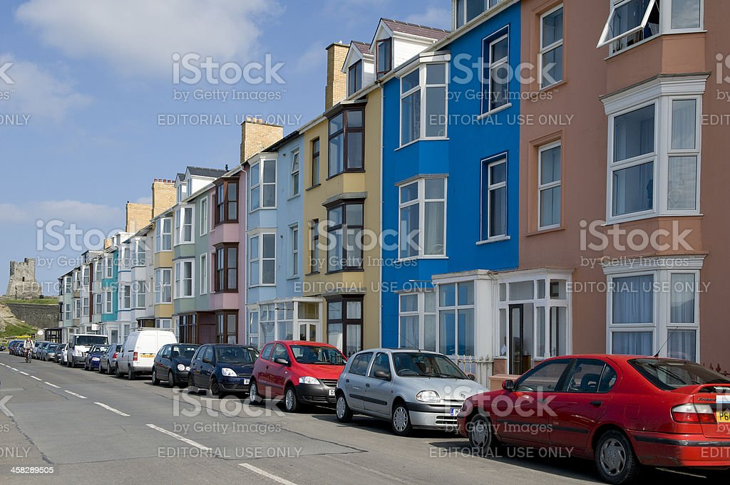 Aberystwyth- Seaside town in the UK royalty-free stock photo