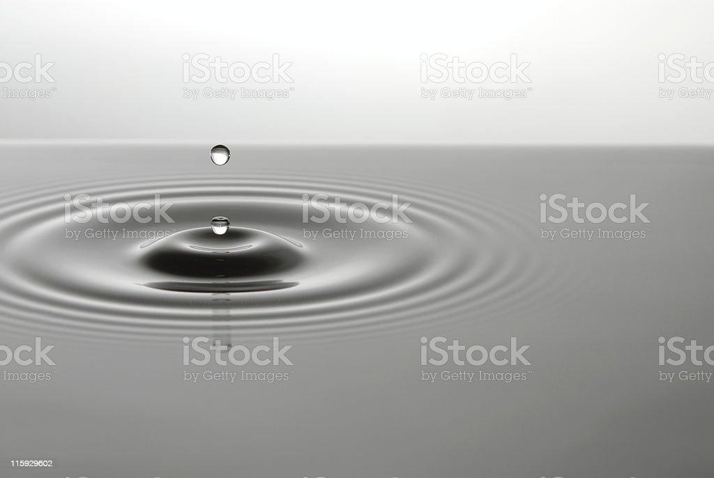 Abeyance water drop royalty-free stock photo