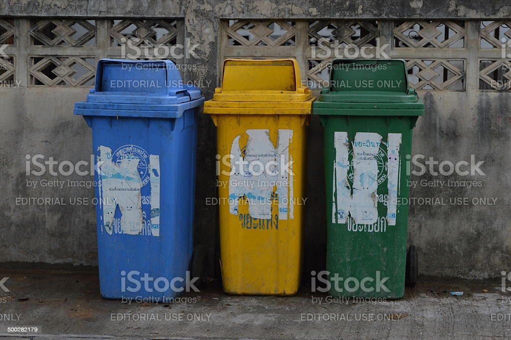 Abfalltrennung in Thailand stock photo