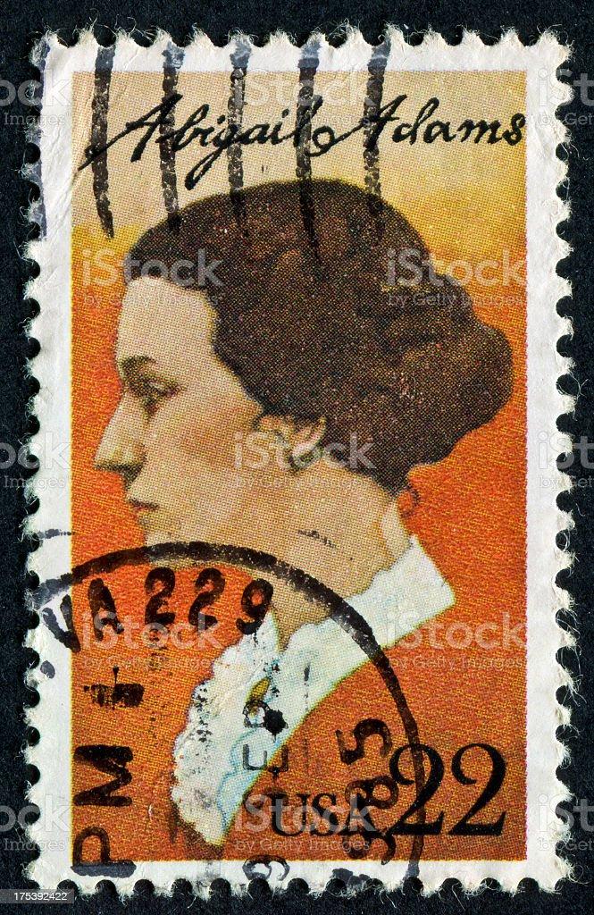 Abigail Adams Stamp royalty-free stock photo