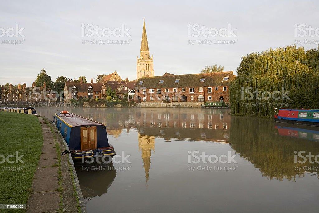 Abingdon at Sunrise stock photo