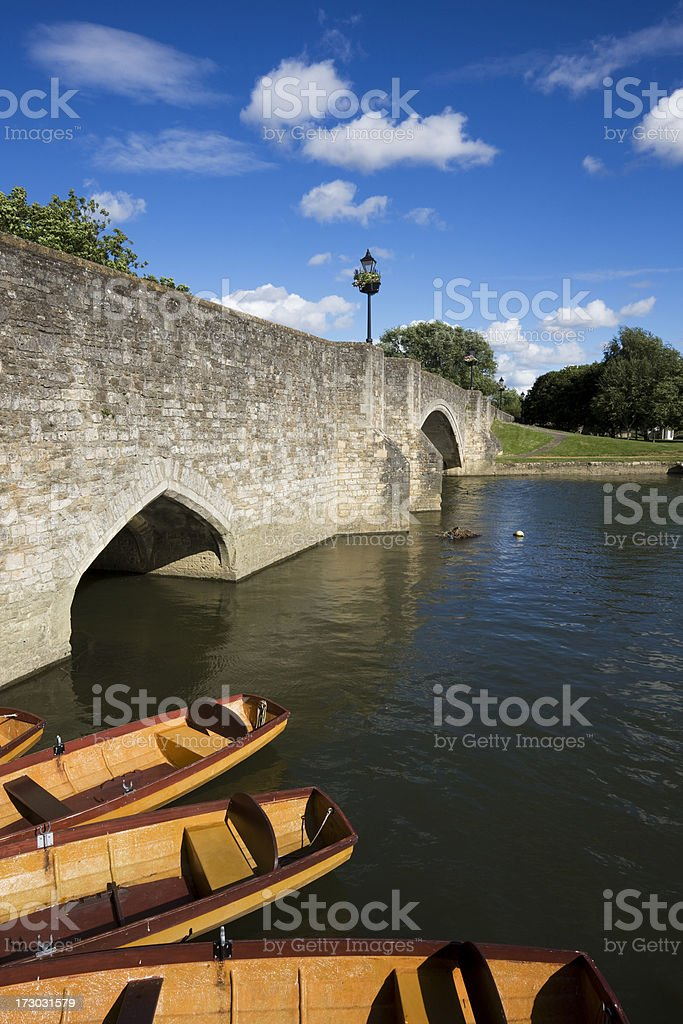 Abingdon Bridge and Boats royalty-free stock photo