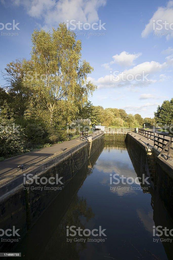 Abingdon Lock stock photo