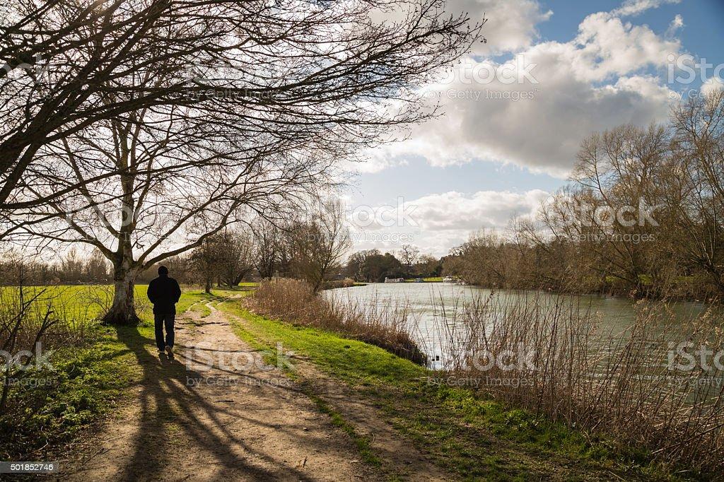 Abingdon, Oxofrdshire, River Thames walk. stock photo