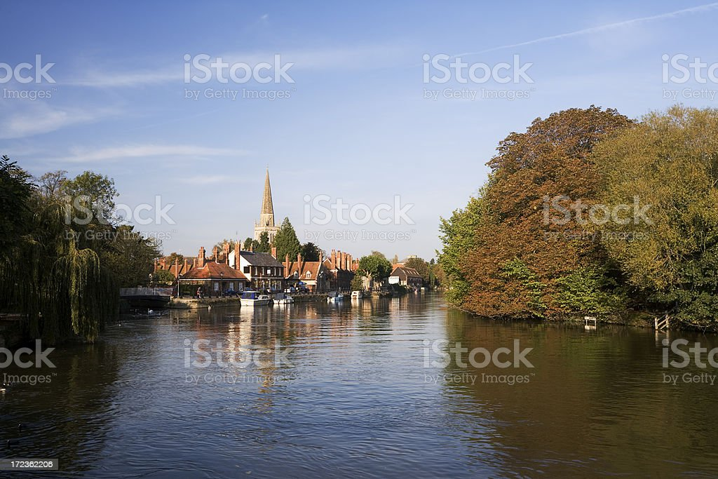 Abingdon View from The Thames royalty-free stock photo