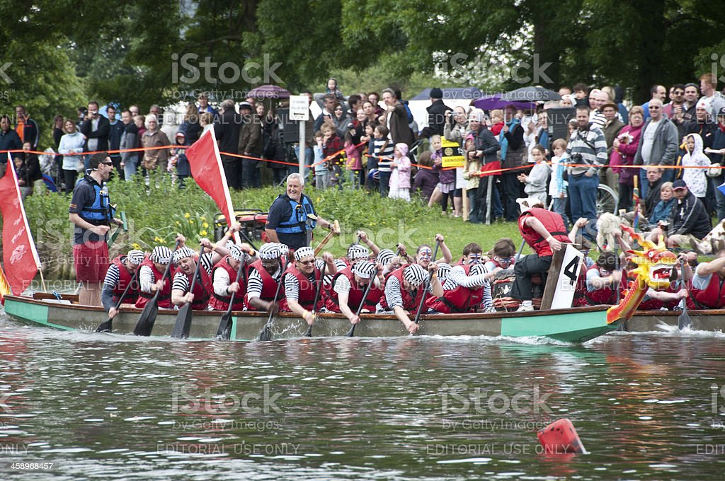 Abingdon's Annual Dragon Boat Event stock photo