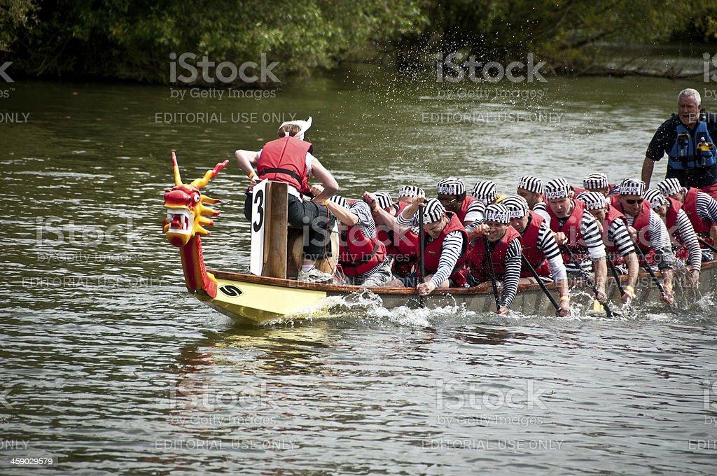 Abingdon's Annual Dragon Boat Event royalty-free stock photo