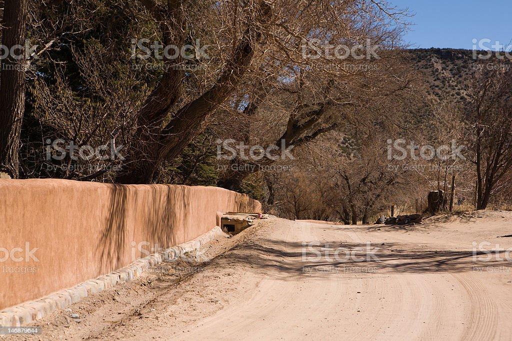 Abiquiu Road stock photo
