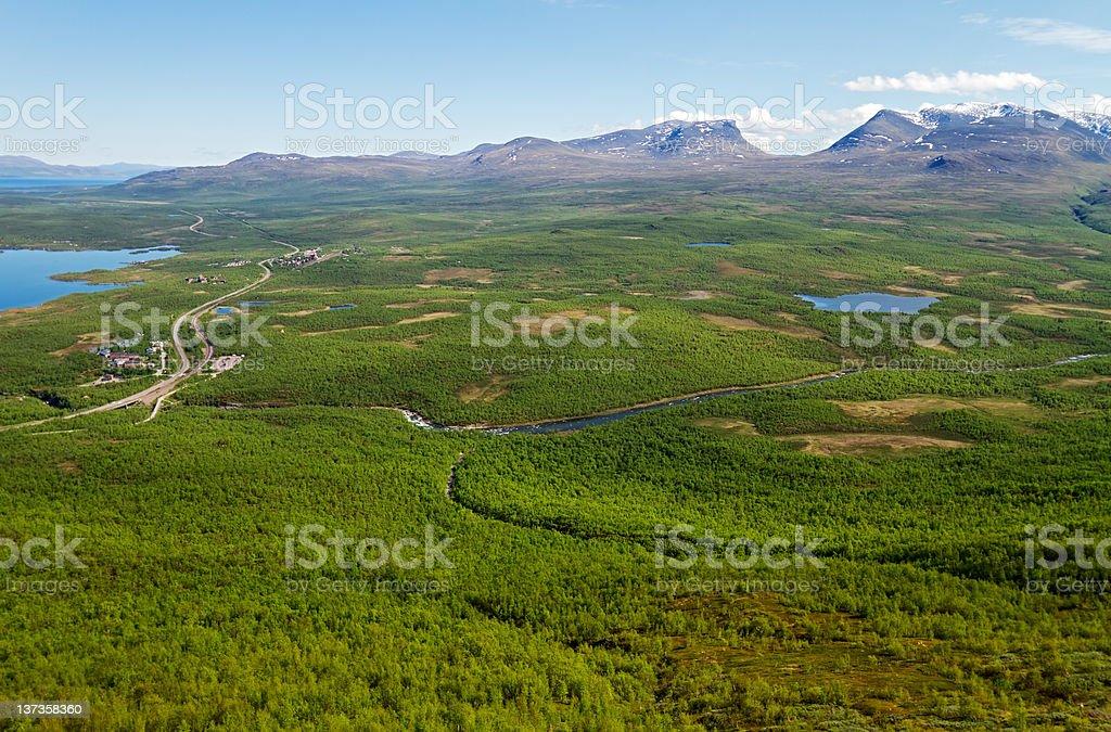 Abisko National park, Lapland, Sweden stock photo