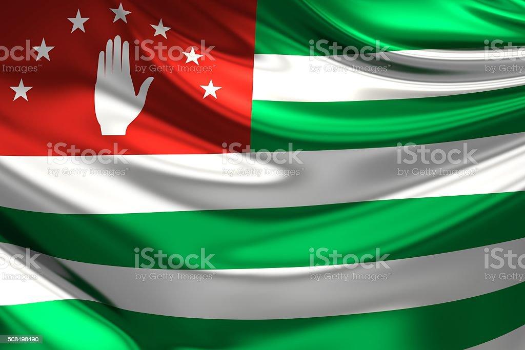Abkhazia Flag. 3d illustration stock photo