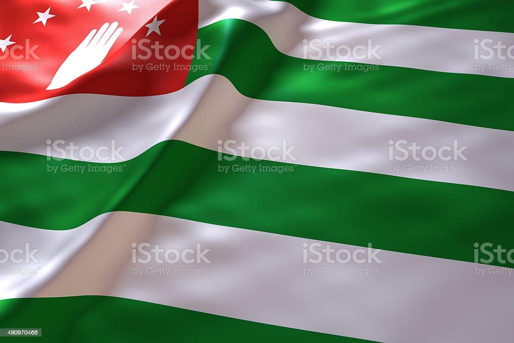 Abkhazia flag background stock photo