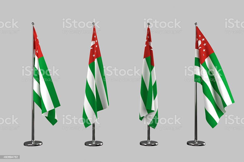 Abkhazia indoor flags isolate on white background stock photo
