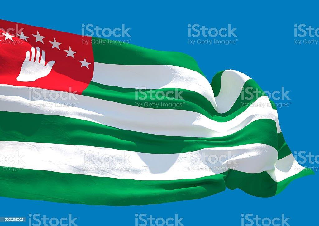 Abkhazia wave flag HD stock photo