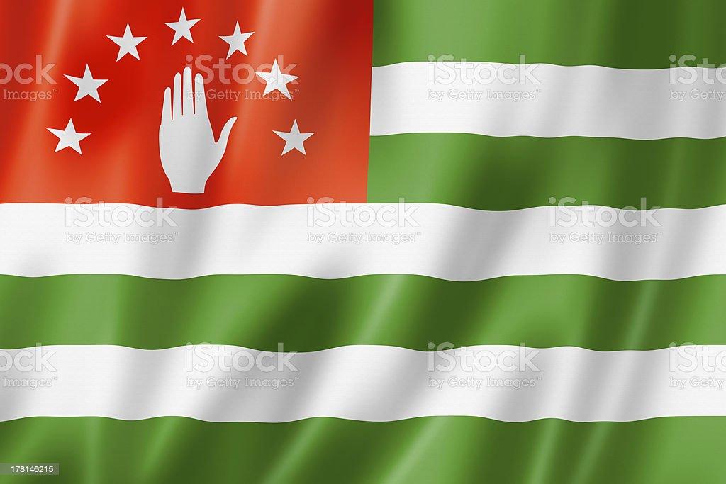 Abkhazian flag stock photo
