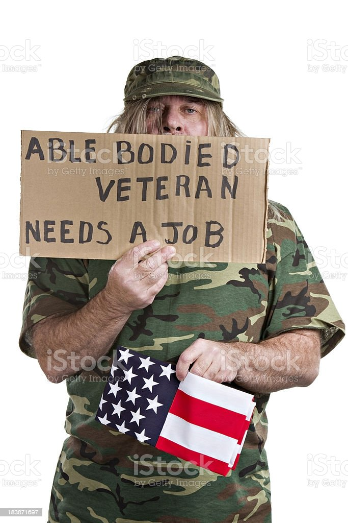 Able Bodied Veteran royalty-free stock photo