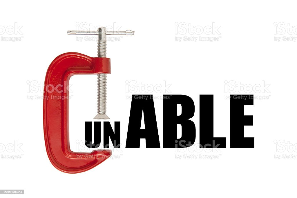 Able clamp concept stock photo