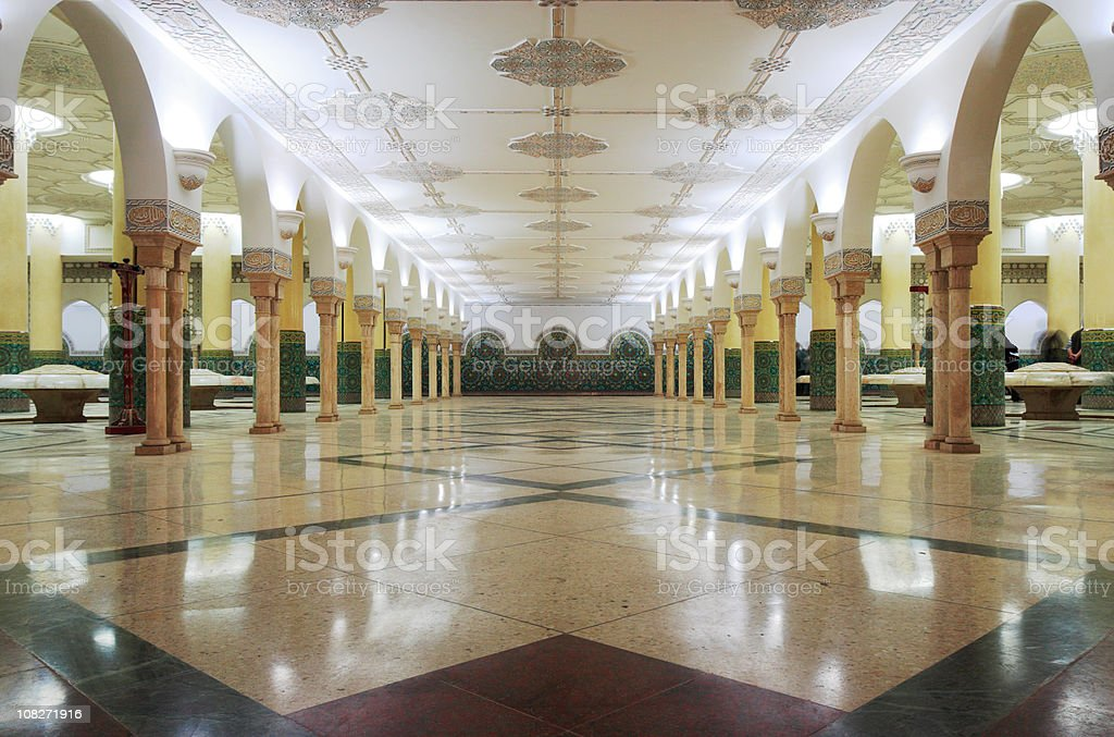 Ablution room stock photo