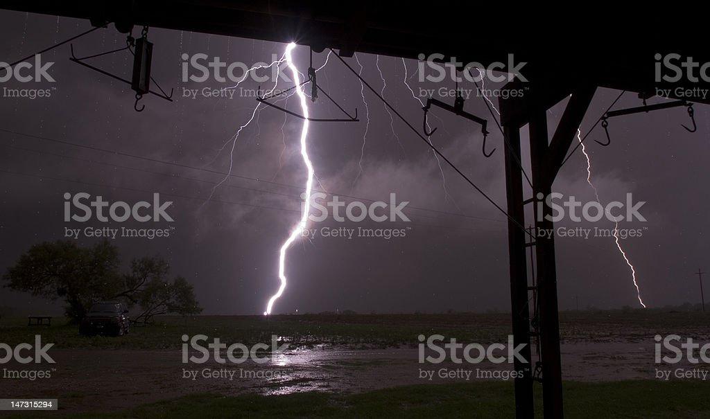 Abnormally Close Lightning Bolts stock photo