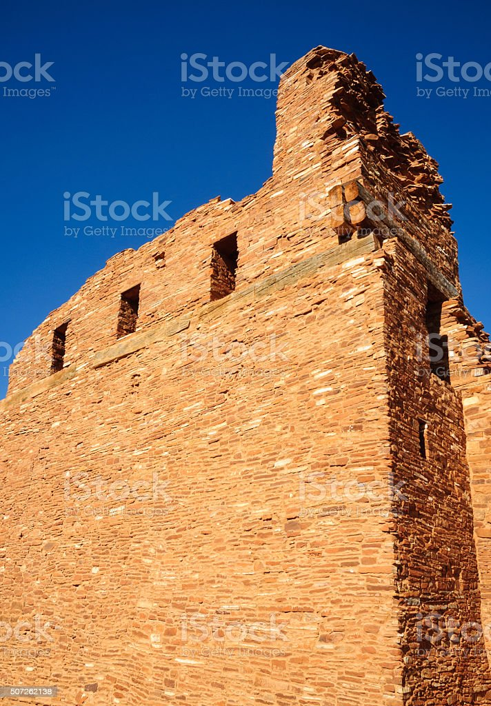 Abo Ruins at Salinas Pueblo Missions National Monument stock photo