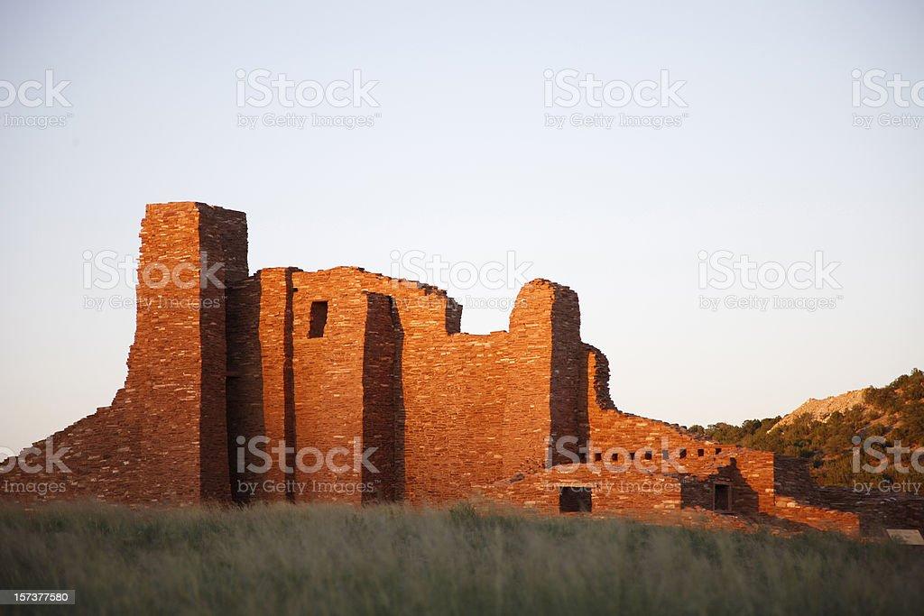 Abo Ruins at Salinas Pueblo National Monument royalty-free stock photo