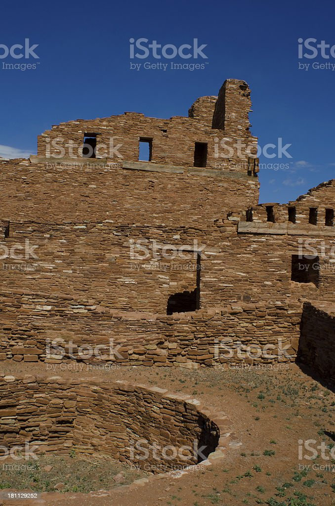 Abo Ruins of Salinas Pueblo Missions National Monument stock photo